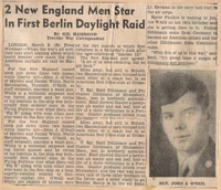 2 New England Men Star In First Berlin Daylight Raid