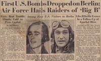 First U.S. Bombs Dropped on Berlin: Air Force Hails Raiders of 'Big B'