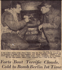 Forts Beat Terrific Clouds, Cold to Bomb Berlin 1st Time