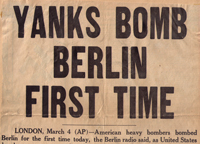 Yanks bomb Berlin first time