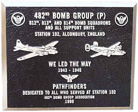 The official 482nd plaque
