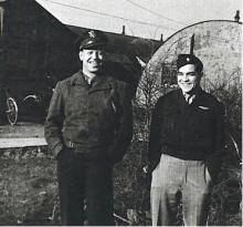 Major Fred Rabo as seen outdoors with a friend